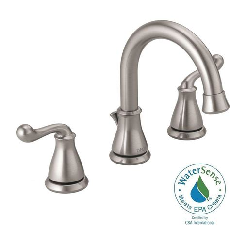Delta Lorain Faucet 35716lf by Delta Brushed Nickel Widespread Faucet Widespread Brushed
