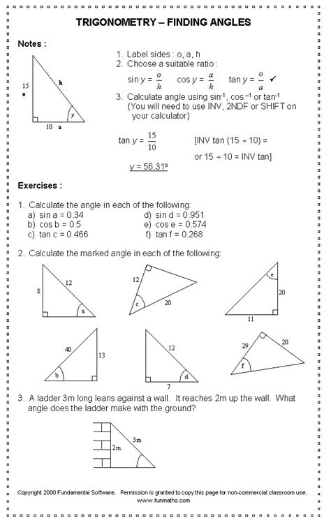 trig worksheets homeschooldressage