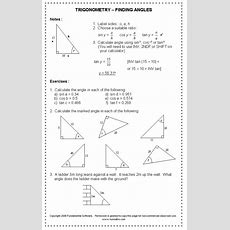 Trig Worksheets Homeschooldressagecom