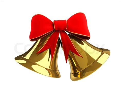 christmas bells bow ribbon christmas bell with a bow stock photo colourbox