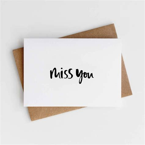See more ideas about miss you cards, miss you, your cards. 'miss you' card by too wordy | notonthehighstreet.com