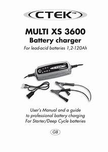 Ctek Xs3600 Charger User Manual By Talk Audio Online