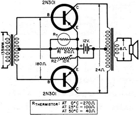 Push Pull Class Transistor Power Output Circuits