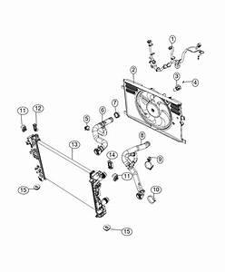 2017 Fiat 500x Hose  Radiator Inlet  Export   Night Eagle