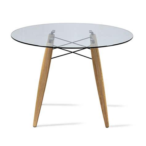 Tisch Holz Glas by Tisch Rund Glas Tischplatte Esstisch Rund Glas Tisch