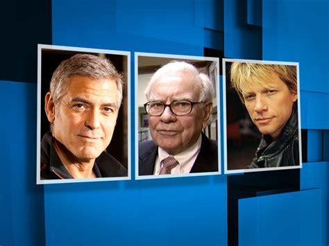 Person Clooney Buffett Bon Jovi Cbs News