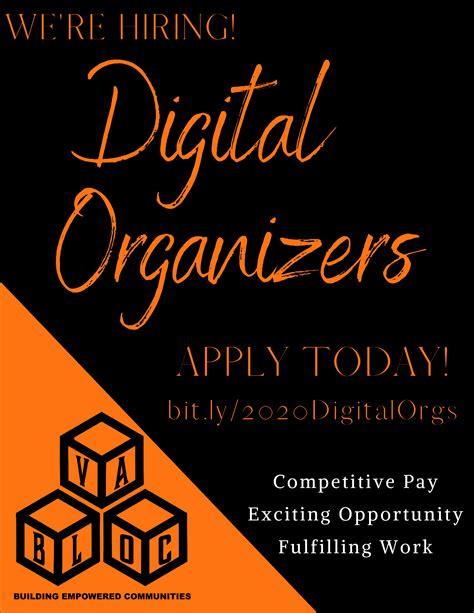 hiring digital organizers va bloc