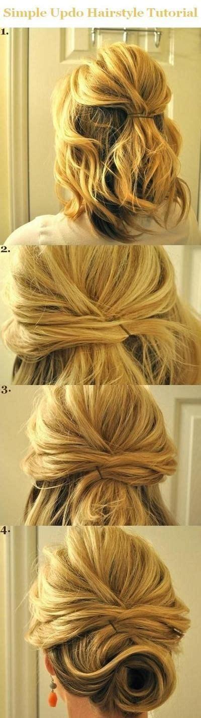 updo hairstyles tutorials  medium hair simple