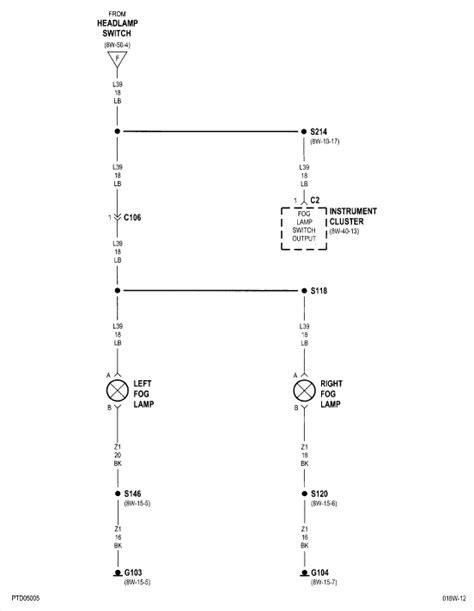 Pt Cruiser Fog Light Wiring Diagram by 2001 Pt Cruiser Fog Lights Factory There A Wiring