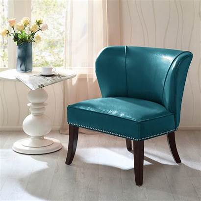 Accent Chair Leather Faux Dallas
