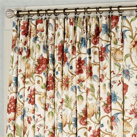 cornwall pinch pleat thermal room darkening floral curtains