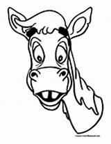 Mule Coloring Mules Colormegood Animals sketch template