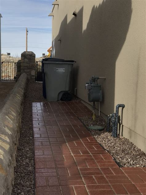 paver walkway install  trash cans yelp