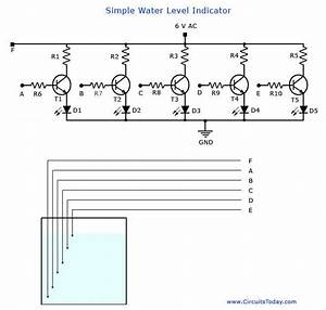 A Simple Water Level Indicator Project With Circuit