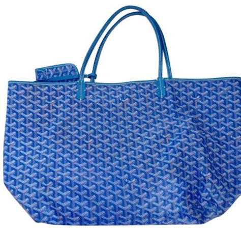 goyard colors goyard blue coated canvas and leather excellent dust