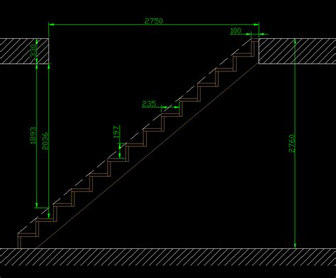 calcul escalier droit