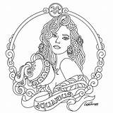 Aquarius Coloring Pages Zodiac Astrology Taurus Printable Adult Colouring Signs Adults Beauty Sheets Mandalas Tattoo Drawing Drawings Colors Designs Embroidery sketch template