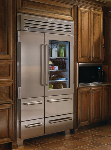 glass door fridge sub zero 48 quot professional side by side refrigerator with