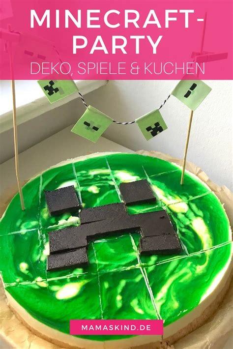 minecraft party zum kindergeburtstag mit deko spielen