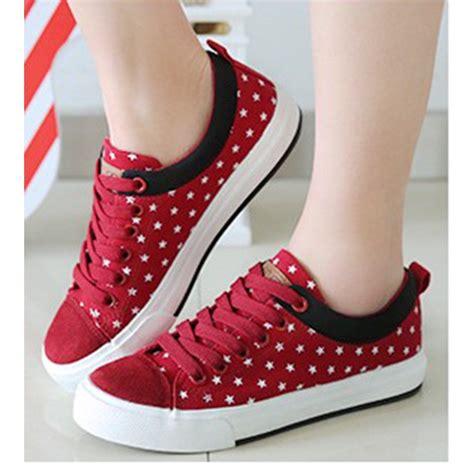 sepatu wanita sepatu murah sepatu kets wanita casual merah sds122 shopee indonesia
