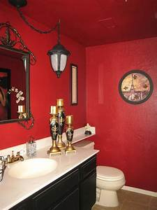 21 red bathroom design ideas to try interior god for Black white and red bathroom decorating ideas