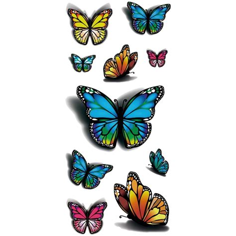 butterfly design temporary tattoo stickers