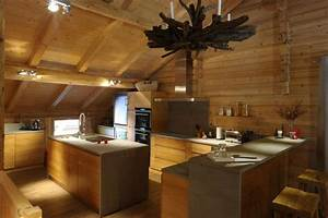 decoration cuisine montagne With decoration interieur chalet moderne