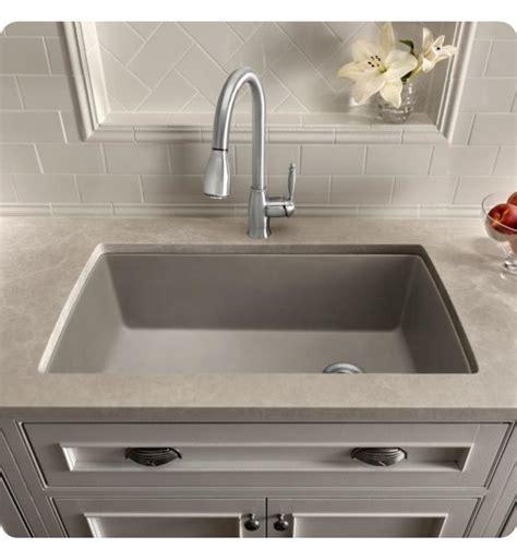 blanco silgranit single bowl sink in metallic gray blanco 440193 32 1 2 quot single bowl undermount