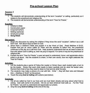 10 sample preschool lesson plans sample templates With examples of lesson plan templates