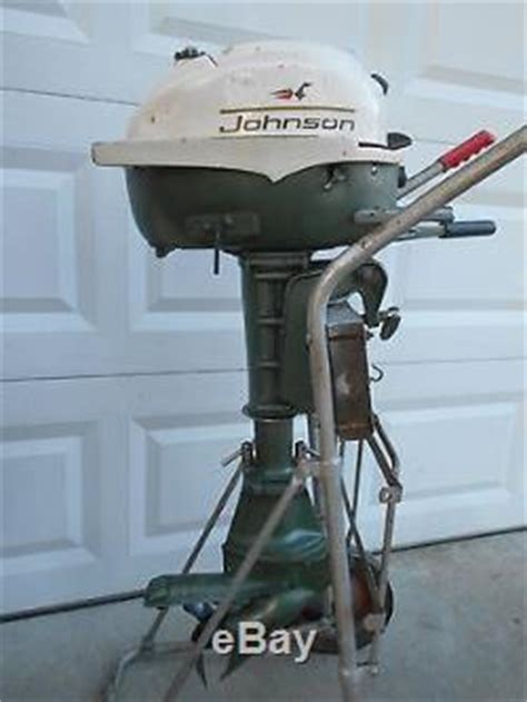 3 Hp Johnson Boat Motor by Vintage 1967 Johnson 3hp Outboard Fishing Boat Rowboat