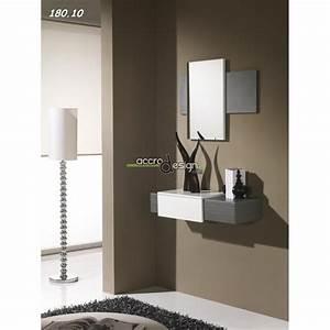 Console Murale Design : console avec miroir firaco 08 meuble d 39 entr e ~ Teatrodelosmanantiales.com Idées de Décoration