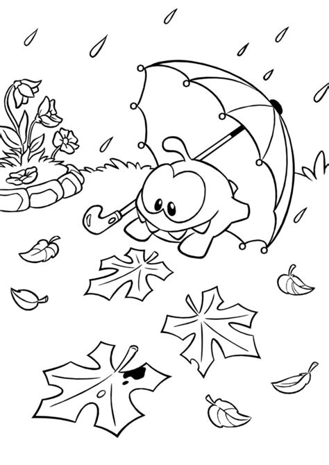om nom cut  rope coloring pages coloring pages