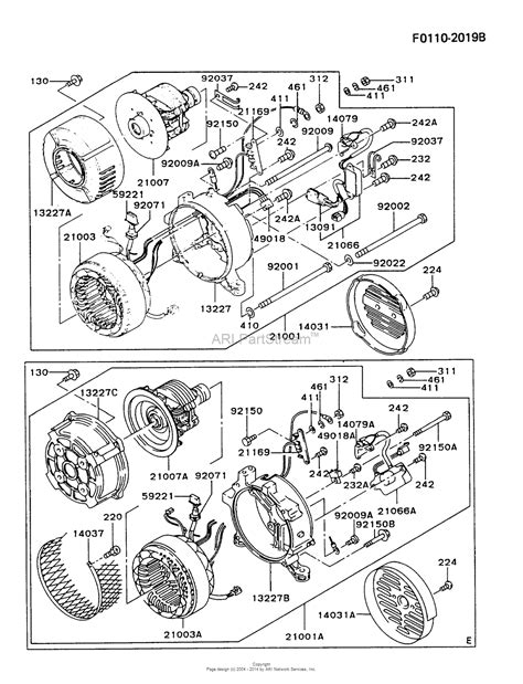 Kawasaki Gawa Generator Gaa Parts Diagram For