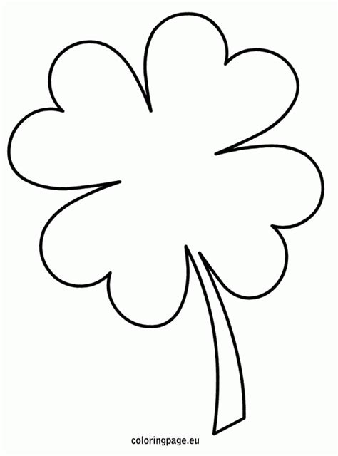 clover template four leaf clover template coloring home