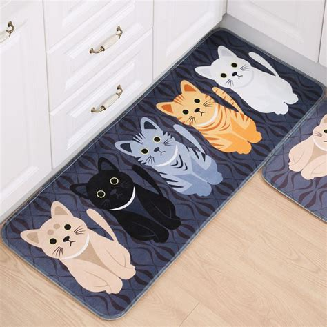 desain kartun cetak mandi karpet keset pintu masuk karpet antislip persegi panjang tidur