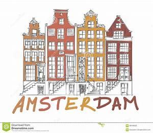 Dessin de ville d39amsterdam illustration de vecteur for Dessin plan de maison 3 dessin de ville damsterdam illustration de vecteur