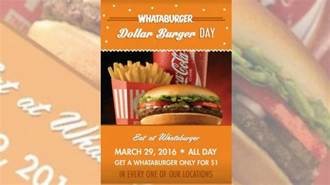 32433 Whataburger Printable Coupons by Whataburger 1 Burger Day Promotion Is A Hoax Chew Boom