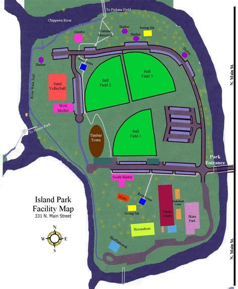 Island Park Facility Map - Mt Pleasant Michigan • mappery