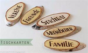 Tischkarten Hochzeit Selber Machen : namensschilder aus holz hochzeit ~ Orissabook.com Haus und Dekorationen