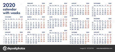 la red calendario semanas vector ilustracion archivo