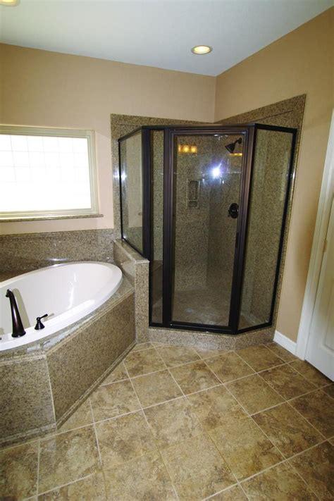 corner granite shower    order cultured