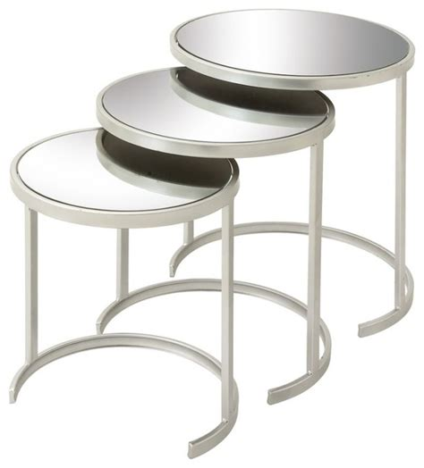 Three metal ring accents serve as the tables' aprons. Functional Metal Glass Act Table, Set of 3 - Contemporary - Coffee Table Sets - by Benzara ...