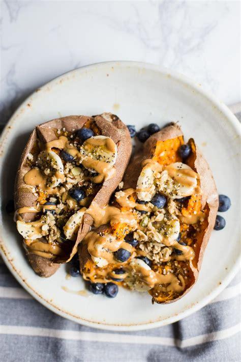 loaded breakfast sweet potatoes  britnell