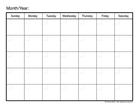 monthly calendar print week printable calendar