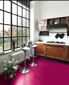 idee couleur peinture carrelage sol dans cuisine rustique With peindre carrelage sol cuisine