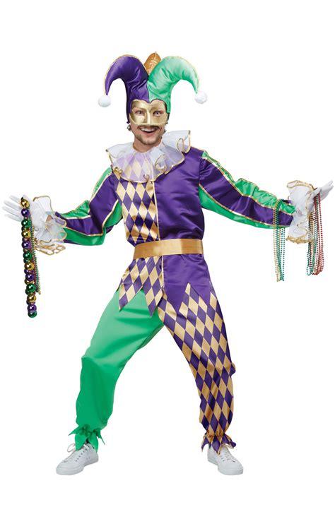 Festive Mardi Gras Jester Adult Costume - PureCostumes.com