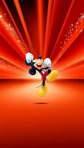 Mickey Mouse Disney Red Wallpaper papel de parede para ...