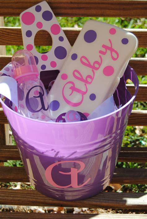 shower gifts personalized baby shower gift basket bottle by