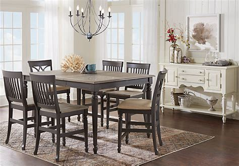 ocean blue grove gray  pc counter height dining room