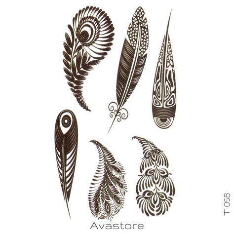 tatouages temporaires avastore plume de paon